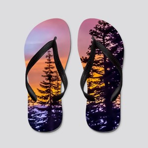 Evergreen Sunset Flip Flops